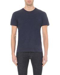 DIESEL - Blue T-sirio Cotton-jersey T-shirt for Men - Lyst