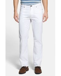 Tailor Vintage | White Classic Fit Five-pocket Cotton Chinos for Men | Lyst