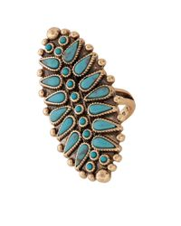 Lucky Brand | Metallic Goldtone Squash Blossom Ring | Lyst