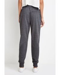 Forever 21 | Gray Heathered Drawstring Joggers | Lyst