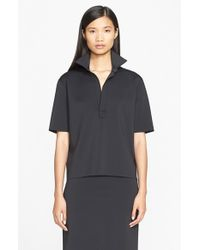Helmut Lang | Blue Button Front Shirt | Lyst