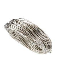 R.j. Graziano - Metallic Silvertone Chunky Woven Bracelet - Lyst