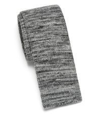 Saks Fifth Avenue | Gray Anonymous Ism Marled Knit Cotton Tie for Men | Lyst