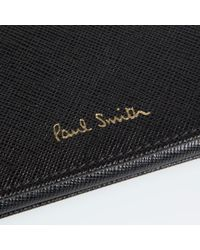Paul Smith - Black Saffiano Calf Leather Credit Card Holder - Lyst