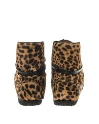 Isabel Marant - Brown Flavie Calf-Hair Moccasin Boots - Lyst