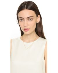 kate spade new york - Metallic Xo Necklace - Clear - Lyst