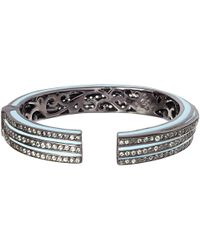 M.c.l | Light Blue Sapphire Stacked Bangle | Lyst