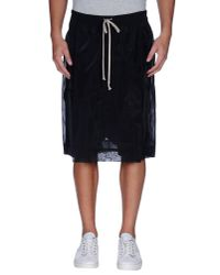 Rick Owens - Black Bermuda Shorts for Men - Lyst