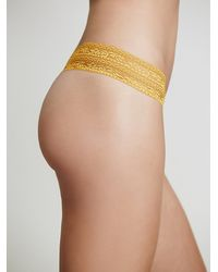 Free People - Orange Lace Trim Thong - Lyst
