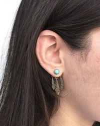 Pamela Love | Blue Frida Ear Jacket In Brass & Turquoise | Lyst
