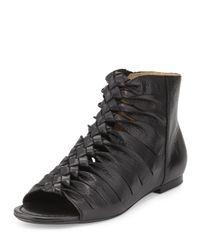 Frye - Black Marlene Twisted-Leather Sandals - Lyst