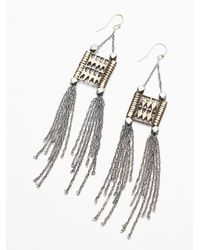 Free People - Metallic Dolly Chain Earring - Lyst