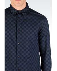 Armani Jeans | Blue Cotton Shirt for Men | Lyst