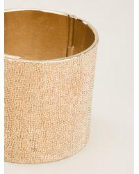 Givenchy - Metallic Textured Cuff - Lyst