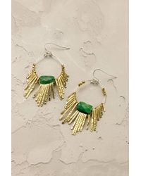 Anthropologie | Green Jade Burst Earrings | Lyst