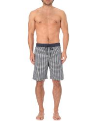 Hanro - Black Geometric-print Cotton Shorts for Men - Lyst