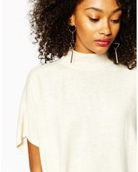 Monki | Metallic Geo Statement Earrings | Lyst
