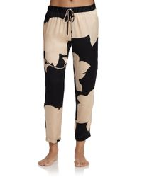 Josie Natori - Multicolor Bold Blossom Silk Pants - Lyst