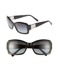 Tory Burch | Black 56mm Polarized Sunglasses | Lyst