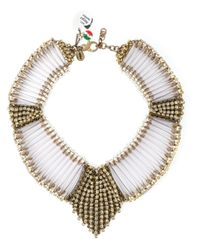 Sveva Collection | Metallic 'margot' Necklace | Lyst