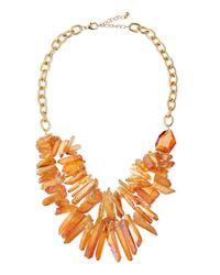Panacea | Metallic Two-Strand Prism Bib Necklace | Lyst