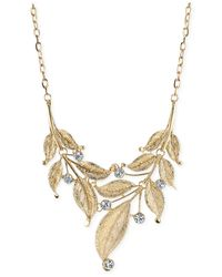 2028 | Metallic Gold-Tone Leaf Statement Necklace | Lyst