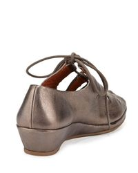 Gentle Souls - Gray Valley Lily Metallic Leather Demi-Wedge - Lyst