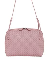 Bottega Veneta - Pink Small Intrecciato Nappa Leather Bag - Lyst