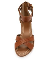 Twelfth Street Cynthia Vincent - Brown Laura Ankle Strap Sandals - Lyst
