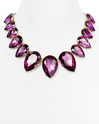 Aqua | Purple Amalia Large Teardrop Necklace, 18"