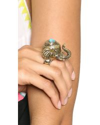 House of Harlow 1960 - Metallic Elephant Prosperity Ring Gold - Lyst