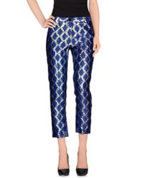 Mauro Grifoni - Blue Casual Trouser - Lyst