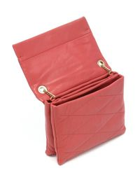 Lanvin - Pink Red Lambskin Mini 'sugar' Chain Shoulder Bag - Lyst