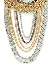 Nasty Gal - Metallic Total Royal Necklace - Lyst