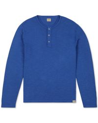 Lucky Brand | Blue Long-sleeve Henley for Men | Lyst