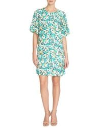 Cece by Cynthia Steffe | Multicolor 'jane' Ruffle Sleeve Shift Dress | Lyst