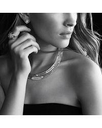 David Yurman   Metallic Labyrinth Link Collar Necklace With Diamonds   Lyst