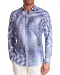 Polo Ralph Lauren - Blue Checked Oxford Estate Sportshirt for Men - Lyst