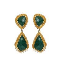 Victor Velyan - Green Emerald Earrings - Lyst
