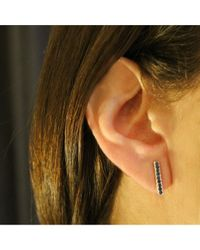 Adornia - Blue Sapphire And Sterling Silver Barra Bar Stud Earrings - Lyst