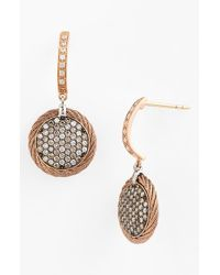 Alor | Pink Pave Diamond & Cable Drop Earrings - Blush | Lyst