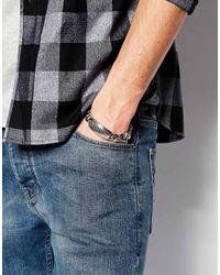 Emporio Armani - Metallic Id Bracelet for Men - Lyst
