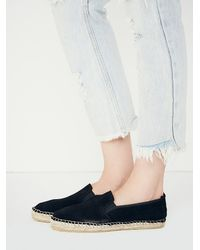 Free People | Black Freeway Espadrille | Lyst