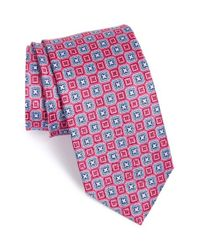 JZ Richards - Pink Geometric Grid Silk Tie for Men - Lyst