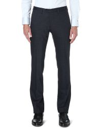 Armani | Black Slim-fit Straight Stretch-cotton Chinos for Men | Lyst
