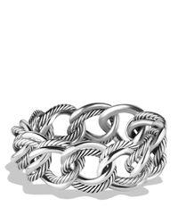 David Yurman - Metallic Curb Chain Small Link Bracelet - Lyst
