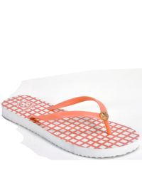 Tory Burch | Pink Thin Flip Flop - Printed Thong | Lyst