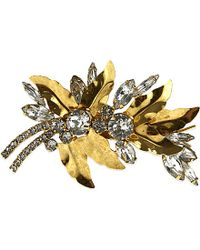 Jennifer Behr | Red Desert Rose Barrette, Gold | Lyst