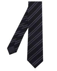 BOSS - Blue Silk Stripe Wool Tie for Men - Lyst