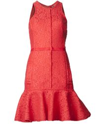 Lanvin | Lace Flared Dress | Lyst